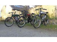 vintage replica motorised bikes