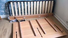 IKEA double bed frame and headboard