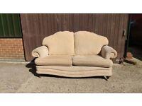 beige/ cream 3 seater sofa