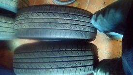 """PART WORN TYRES 16"""" 2X 205 60 16 AND 2X 215 60 16"""