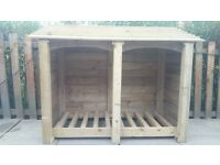 4FT OUTDOOR WOODEN LOG STORE