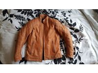 Richa Ladies 'Caroline' Motorcycle Leather Jacket - Cognac