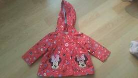 Girls Minnie Mouse Coat.