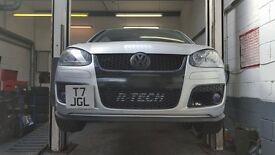 VW Golf 2.0 TFSI and Edition 30 Dynodaze Custom Front Mount Intercooler Big Core FMIC and Hardpipes