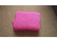 hand-knitted throw