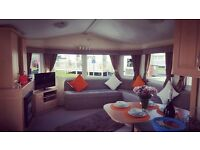 8 Berth deluxe caravan for hire in Trecco Bay Porthcawl South Wales. Close to amenitites