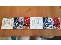 2x NFL Tickets. Arizona Cardinals Vs LA Rams