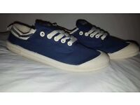 NEW VOLLEY INTERNATIONAL MENS NAVY LACE UP CASUAL SHOES