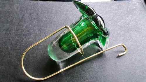 Vintage Art Glass Hummingbird Feeder