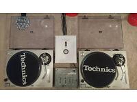 Technics Sl 1200 Mk2 Decks, Kam Mixer With New Headphones..