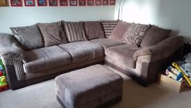 Excellent condition sofa and storage footstool