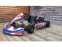 Pro kart with trailer and tyres