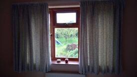 Two Pairs of Matching Curtains - varying widths