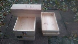 office decoration wood wine boxes