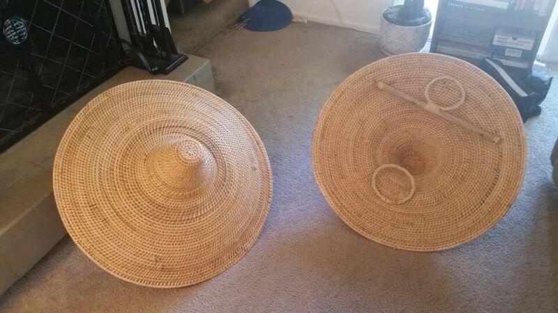 Barely-Used Handmade Rattan Shield Teng Pai for Martial Arts Kung Fu Wushu