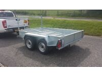VERY STRONG BUILDERS STYLE CAR TRAILERS 8X4 SIZE