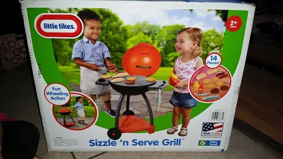 Little Tikes Sizzle 'n Serve Grill Playset, Brand New, Boxed