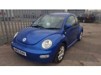 2003 Volkswagen Beetle 2.0 Blue hatchback
