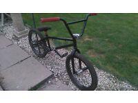 Custom Pro Matte Black BMX Bike, Great Condition, New Grips, Chain, Chrome Hubs, Seat, Forks, Bars!