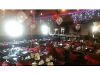 Chair Covers, Balloons, Dj and full party packages