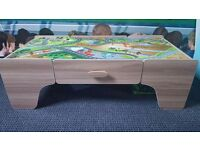 Smyths train table, accessories + extra tracks