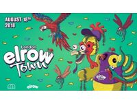 ELROW tickets x2 Saturday 18th August £130