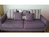 Sofa with cushions excellent condition