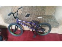 BMX eastern phantom(full chromo) deep purple + 2 cult butter pegs rrp £550