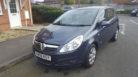 58 PLATE VAUXHALL CORSA 1.3 CDTI 16V CLUB, 5 DOOR HATCHBACK, 89K, LADY OWNER, LONG MOT