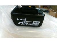 Makita 18v 5ah replacement battery BL 1850