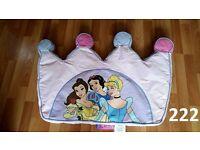 Disney Princess Single Bed Size Cushion Headboard.