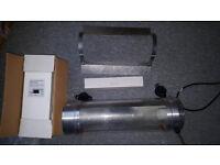 Hydroponics 600W Grow Light Cool tube Kit Ballast Reflector 600 Watt HPS Bulb