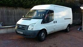 White Transit Van - LWB High Top RWD
