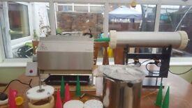 14mm 8KG Boilie Roller Maxi Set with Dough Mixer