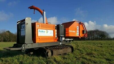 Tracked Wood Chipper Shredder Hire, Site Clearance, Derbyshire & Staffordshire