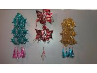 20 x Vintage 80/90s Hanging Foil Christmas Decorations Great Condition
