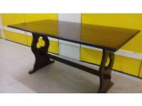 1 dining table,oak, carved leg, good surface, length 155cm,width 80cm,no chairs