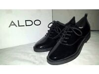 Sale priced Aldo Thysa Patent-leather Derby ladies Shoes Brand New