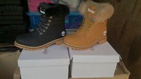 Ladies Timberland Fur Boots
