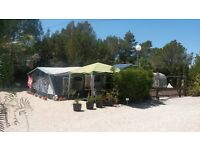Beautiful 5 berth caravan sited on a small friendly campsite in Alicante southern Spain