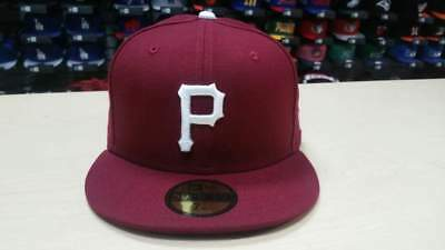 New Era MLB Pittsburgh Pirates Custom Burgundy 59FIFTY Fitted Cap Hat NewEra - Custom Pirate Hat
