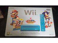 Nintendo Wii in blue for sale