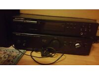 Denon PMA 250 amplifier soeakers and cd player