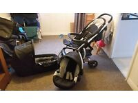 Pram travel system (Pram, pushchair and car seat all in one) Extremely good condition
