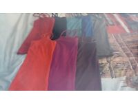 8 DIFF COLOURED VEST TOPS SOME WORN ONCE SOME NOT AT ALL 10