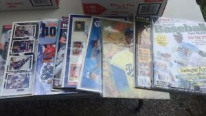 Paper box of various sports magazines etc