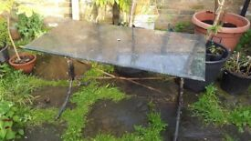 Large vintage marble garden table for sale.