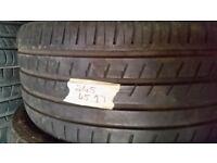 245/45/17 good tread £25