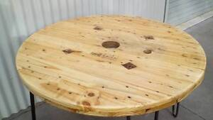 Unique Handcrafted Wooden Cable Reel Timber Coffee Table East Maitland Maitland Area Preview