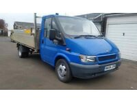 ford transit 2.4 lwb tipper with alloy body 1 former owner been used for general duties